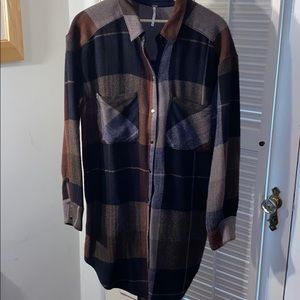 FREE PEOPLE COZY PLAID DRESS/TUNIC L